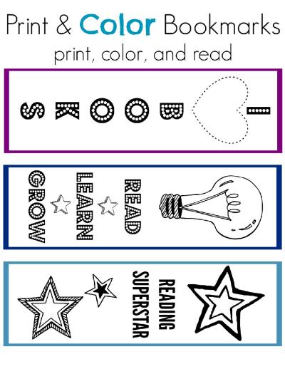 Print Color Bookmarks Scholastic Parents