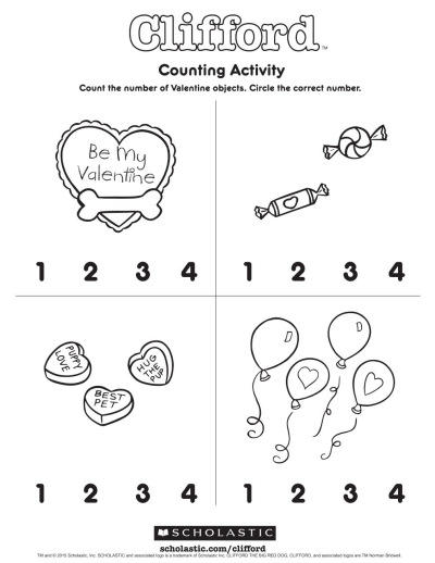Clifford S Counting Activity Worksheets Printables Scholastic