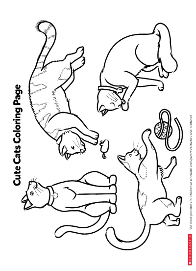 Color in These Cuddly Cats | Worksheets & Printables ...