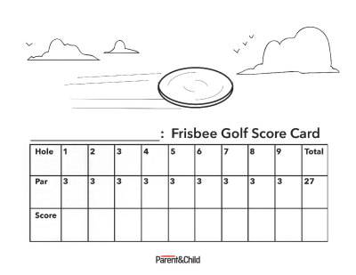 photograph relating to Disc Golf Scorecard Printable named Frisbee Golfing Rating Card Printable Scholastic Dad and mom