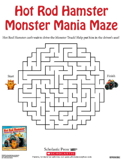Navigate Through the Monster Mania Maze | Worksheets and Printables