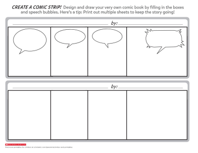 picture regarding Comic Template Printable named Crank out a Comedian Strip: Printable Template Worksheets