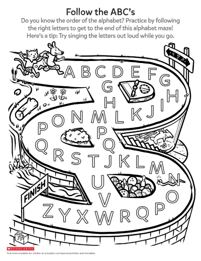 photo regarding Abc Printable Worksheets identified as A Foolish Alphabet Maze Worksheet Printable Worksheets