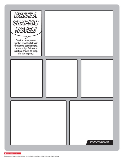create your own graphic novel template worksheets printables