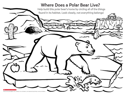 image about Printable Polar Bear Pictures identified as Discover Around a Polar Bears Dwelling Worksheets Printables