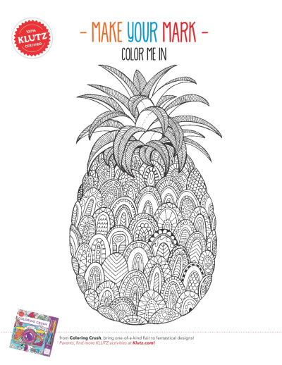photograph about Pineapple Printable named Shade within just the Pineapple Worksheets Printables