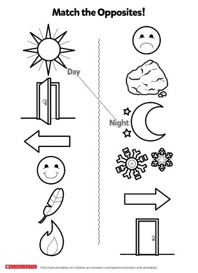Understanding Opposites | Worksheets & Printables ...