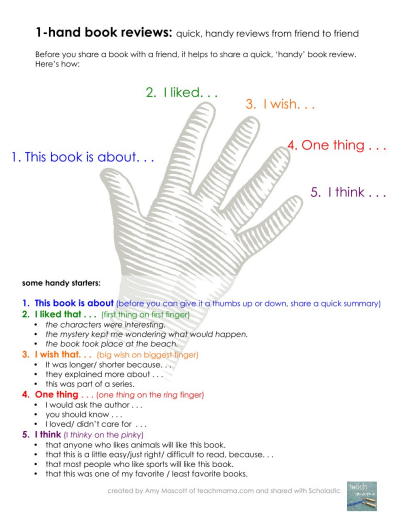 One Hand Book Review Sheet