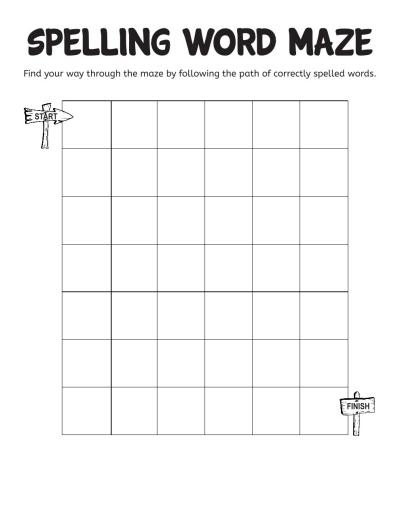 spelling word maze worksheets printables scholastic parents. Black Bedroom Furniture Sets. Home Design Ideas
