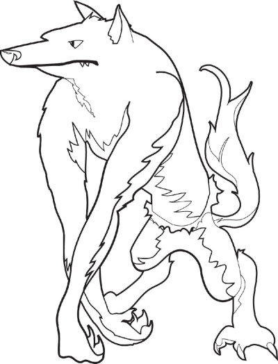 werewolf coloring pages - photo#29