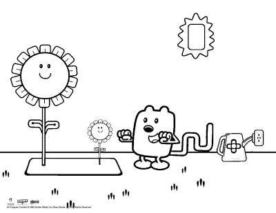 Wubbzy the Gardener Coloring Sheet | Scholastic | Parents