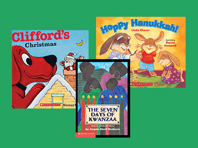 Christmas Hanukkah Kwanzaa And Other Holidays.Winter Holidays Celebrating Diversity With Clifford