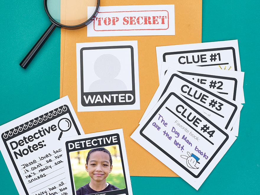 photograph about Printable Detective Games referred to as Printable: Secret Icebreaker Scholastic