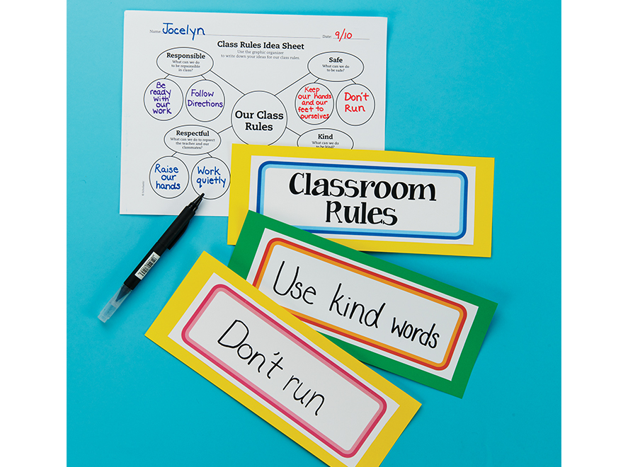 photograph relating to Classroom Rules Printable called Printable: Cl Recommendations Tree Scholastic