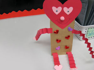 students can create this cute craft to receive and store their valentines day cards