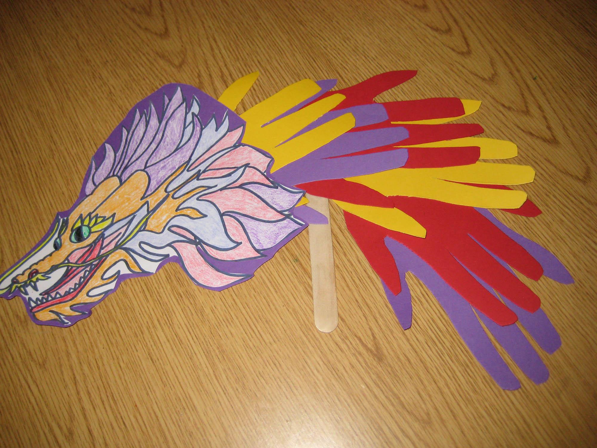 make a lunar new year dragon puppet craft scholastic