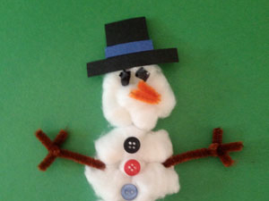 cotton ball snowman cotton snowman craft scholastic 1362