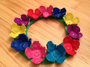Egg carton spring flower wreaths scholastic these colorful wreaths capture the beauty and cheer of spring and make great decorations or mothers day gifts mightylinksfo