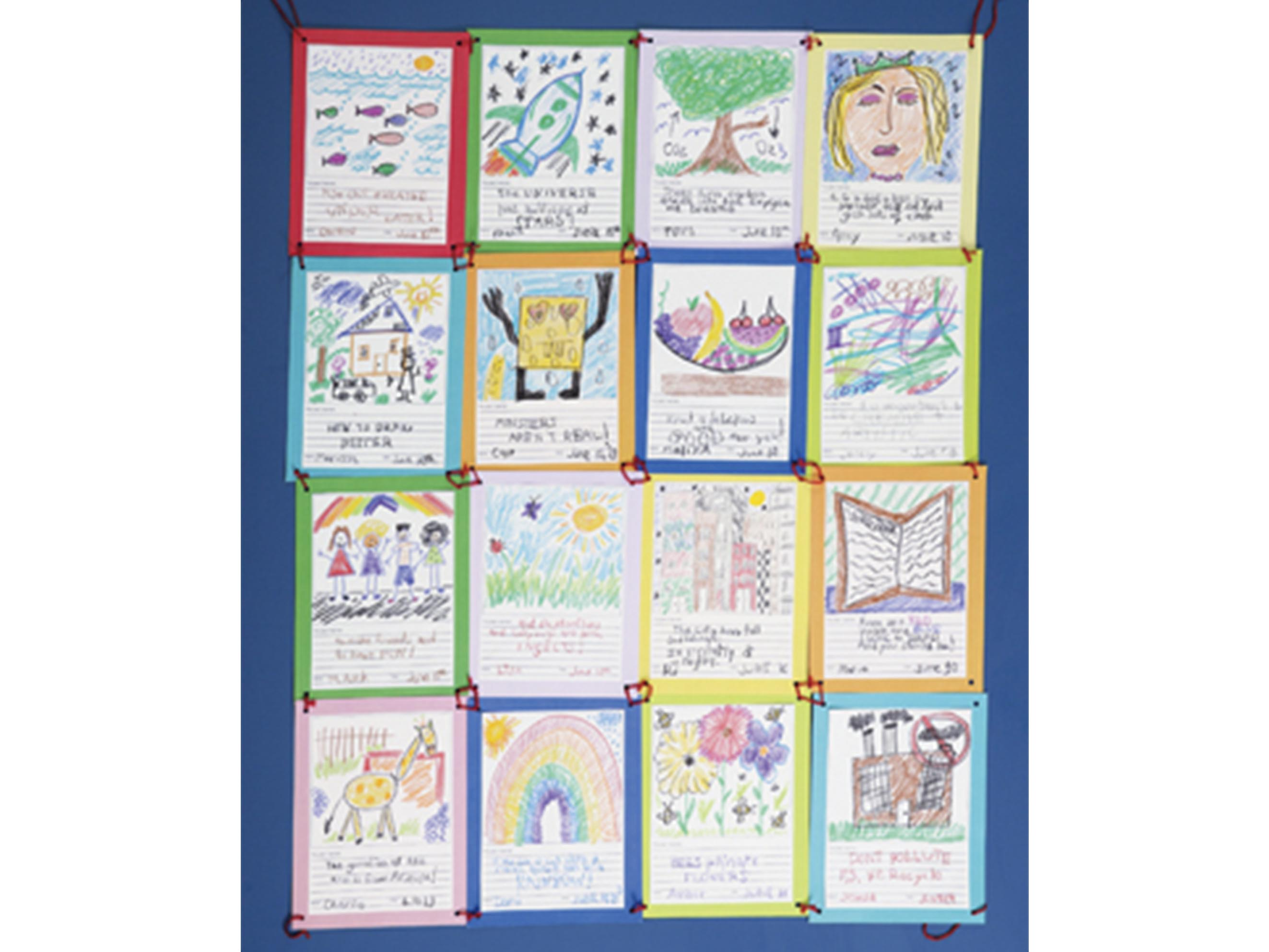 Classroom Paper Quilt Ideas ~ Crafts quilt of knowledge scholastic