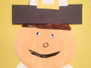 Students create playful Thanksgiving pilgrims with a little cutting pasting and painting. & Paper Plate Pilgrim Man Craft | Scholastic