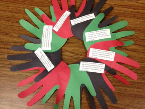 Kwanzaa Wreath Craft Project Scholastic