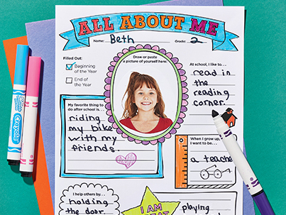 Printable All About Me Scholastic