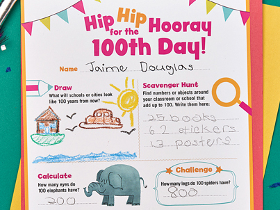 printable 100th day of school scholastic. Black Bedroom Furniture Sets. Home Design Ideas