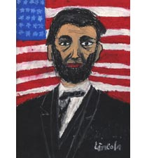 Abraham Lincoln By Justin, 7, Texas