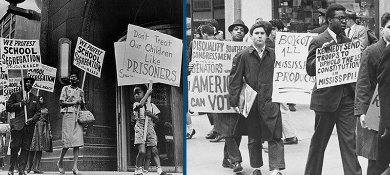 Anti-Segregation and Anti-Racism Protestors