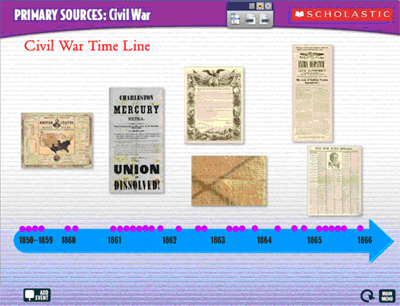 Interactive Civil War Time Line | Scholastic