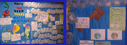 Bulletin boards on water conservation