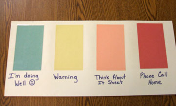 color-coded behavior cards