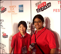 Janus (left) and Lisa (right) pose on the red carpet.
