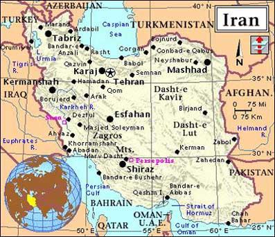 Tehran Middle East Map.Islamic Republic Of Iran Scholastic