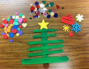 Holiday Craft Stick Christmas Trees