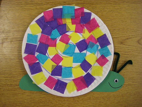 Pre k arts and crafts - Article Spring Snail Craft