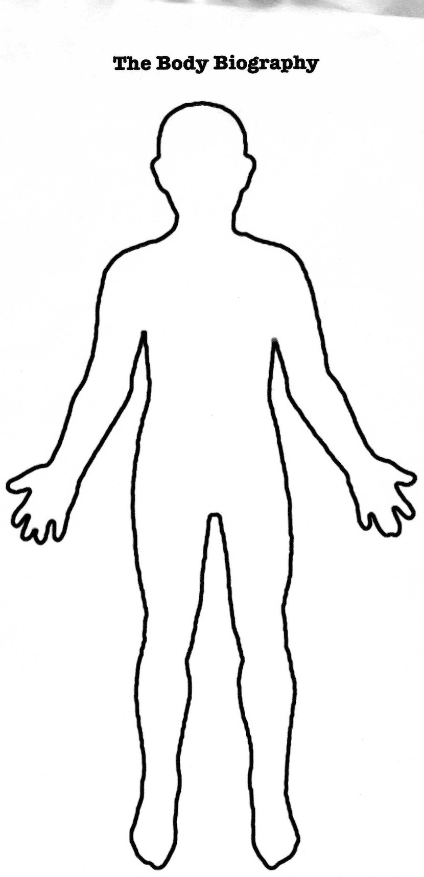 Teaching character analysis using body biographies for Cut out character template