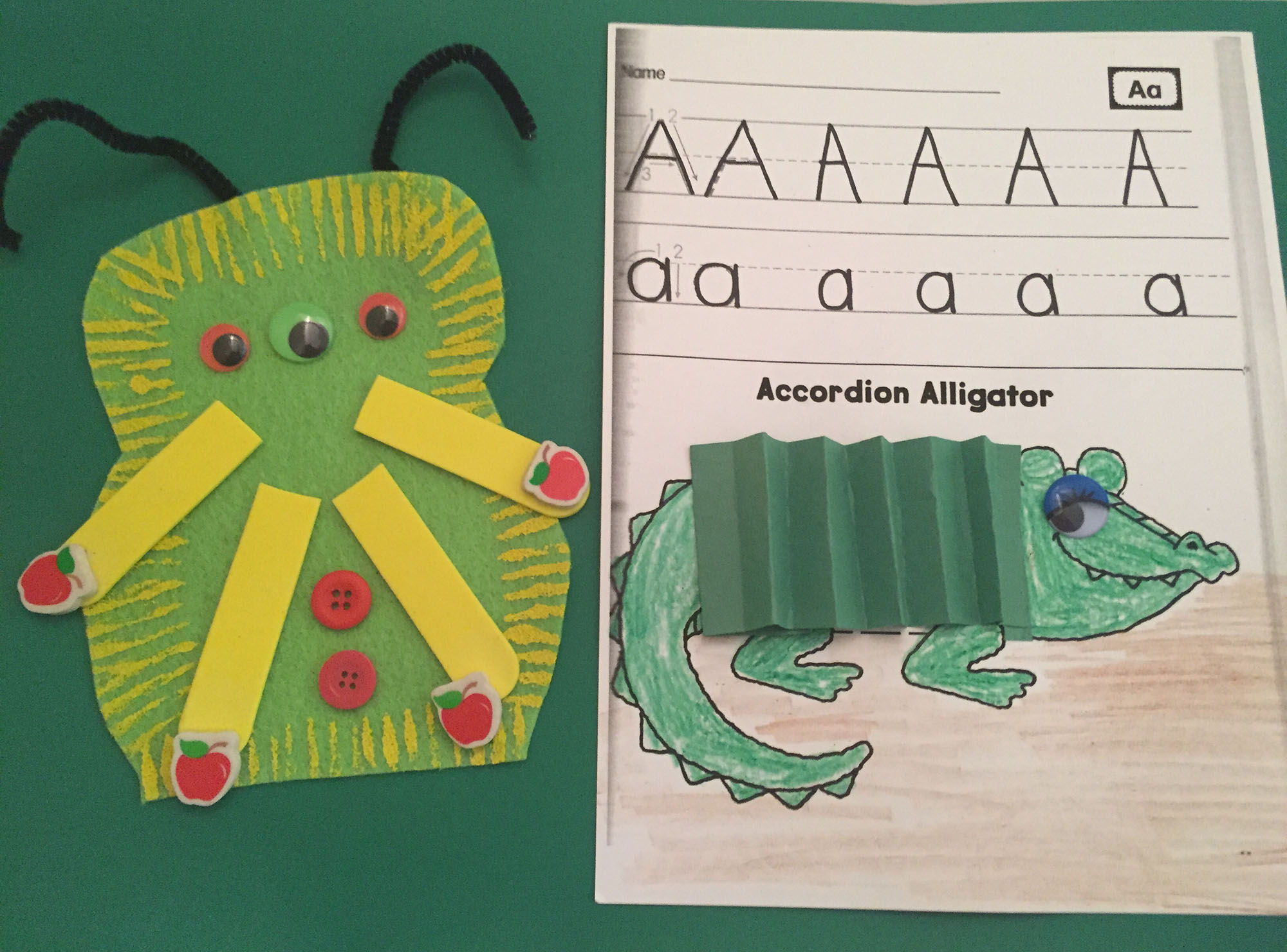 Alien Appliqué and Accordion Alligator