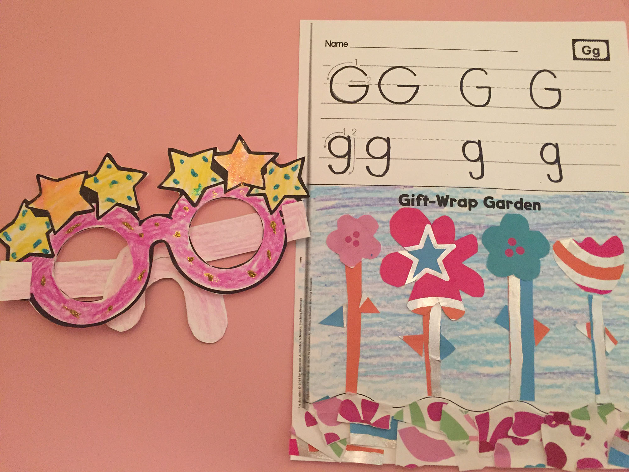 Glitter Glasses and Gift-Wrap Garden