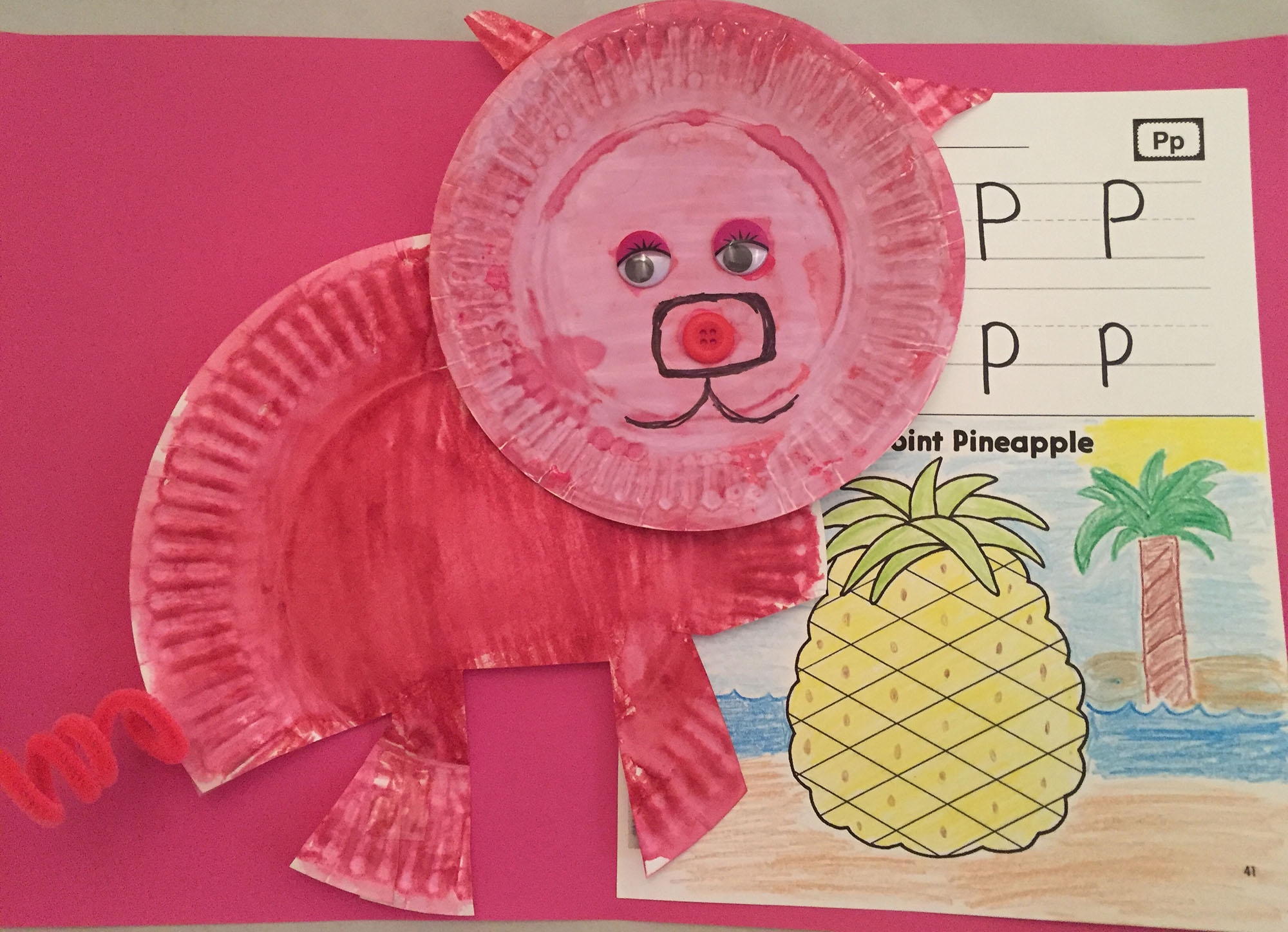Paper-Plate Pig and Pencil-Point Pineapple
