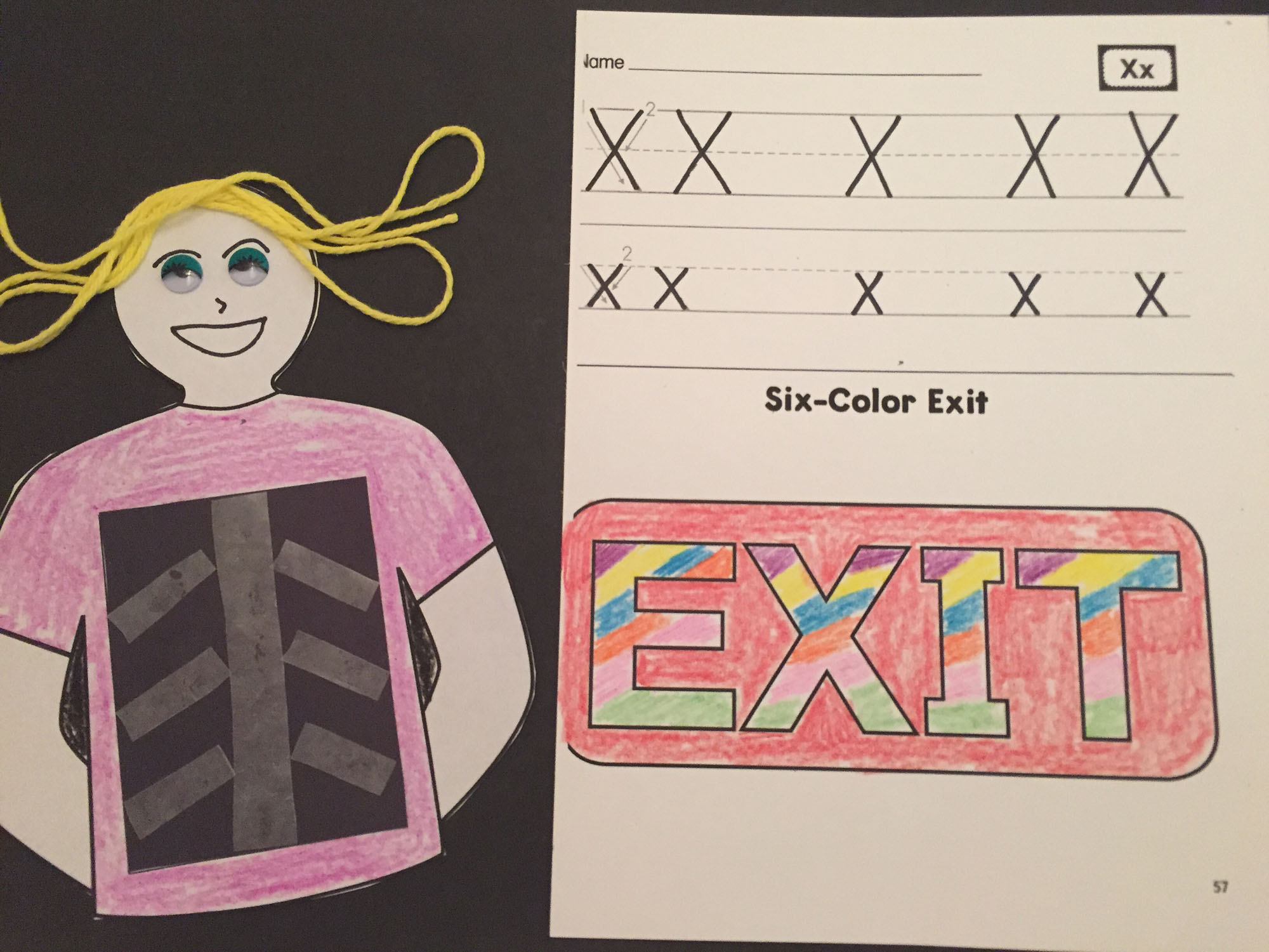 Wax-Paper X-ray and Six-Color Exit