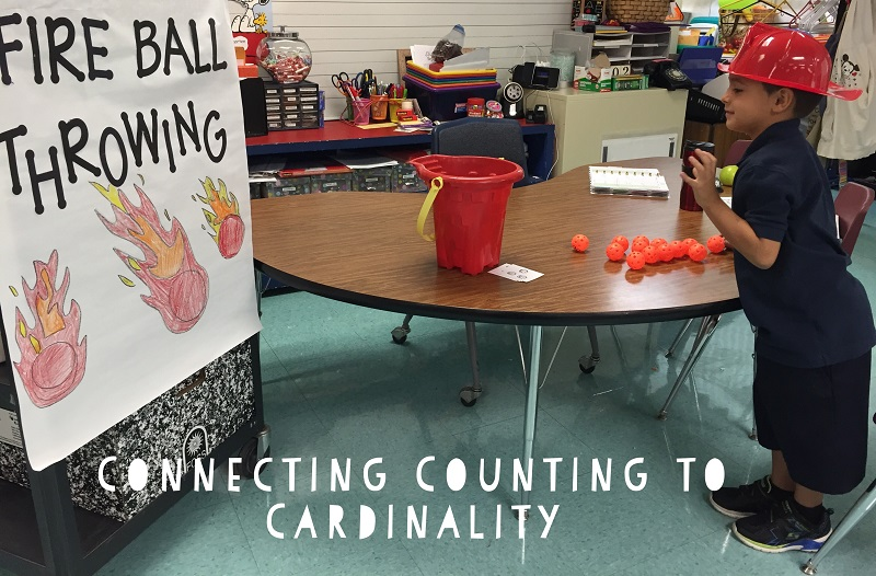 Fun Math Games: Counting to Cardinality Fire Ball Throwing