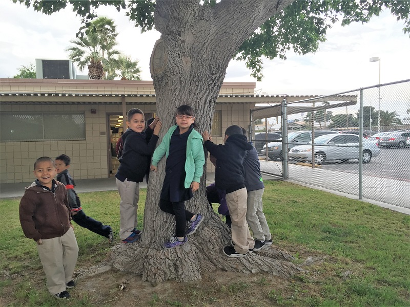 Students go on a nature walk for Earth Day