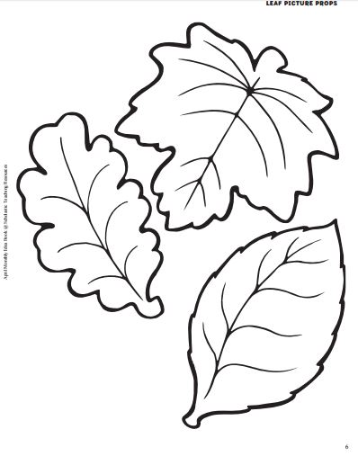 Screenshot of Printable Leaves for Earth Day