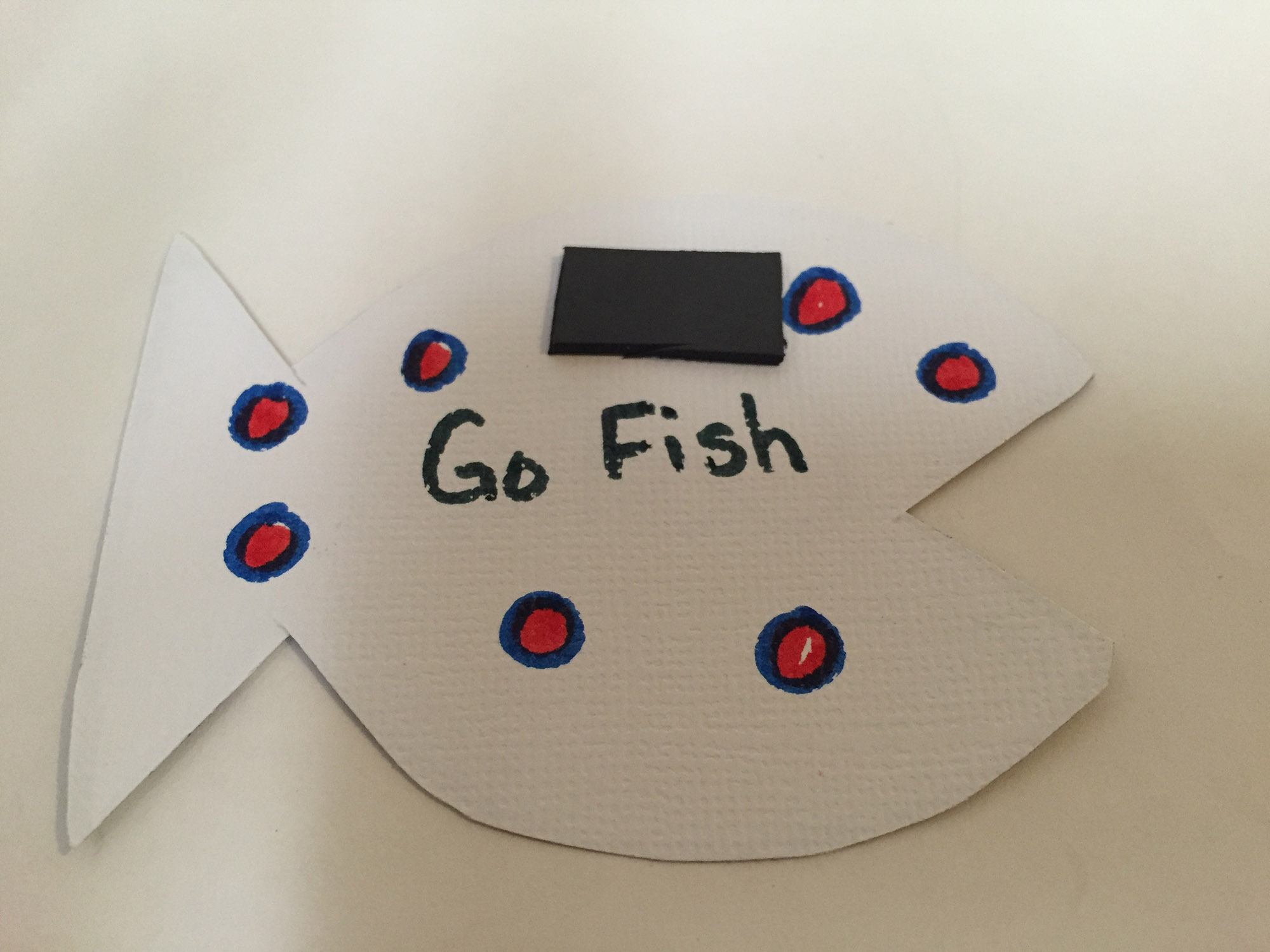 Playing card with magnet on back for Father's Day Go Fish