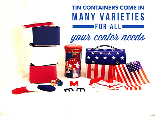 Tin containers come in many varieties for all your center needs