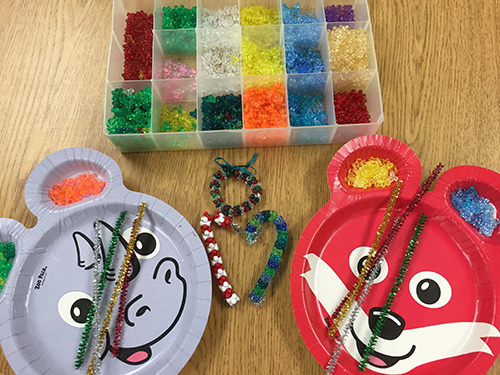 Craft supplies to make bead ornaments