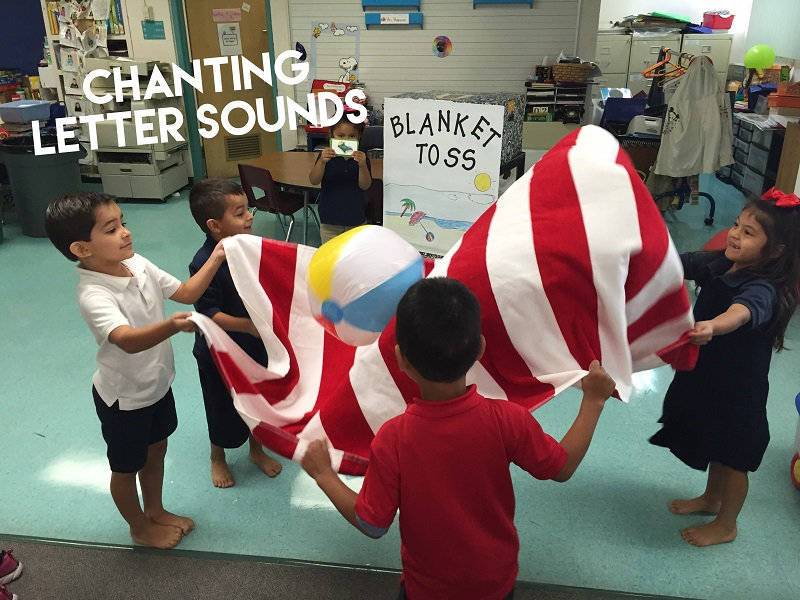 Fun Reading Games: Letter Sounds Blanket Toss