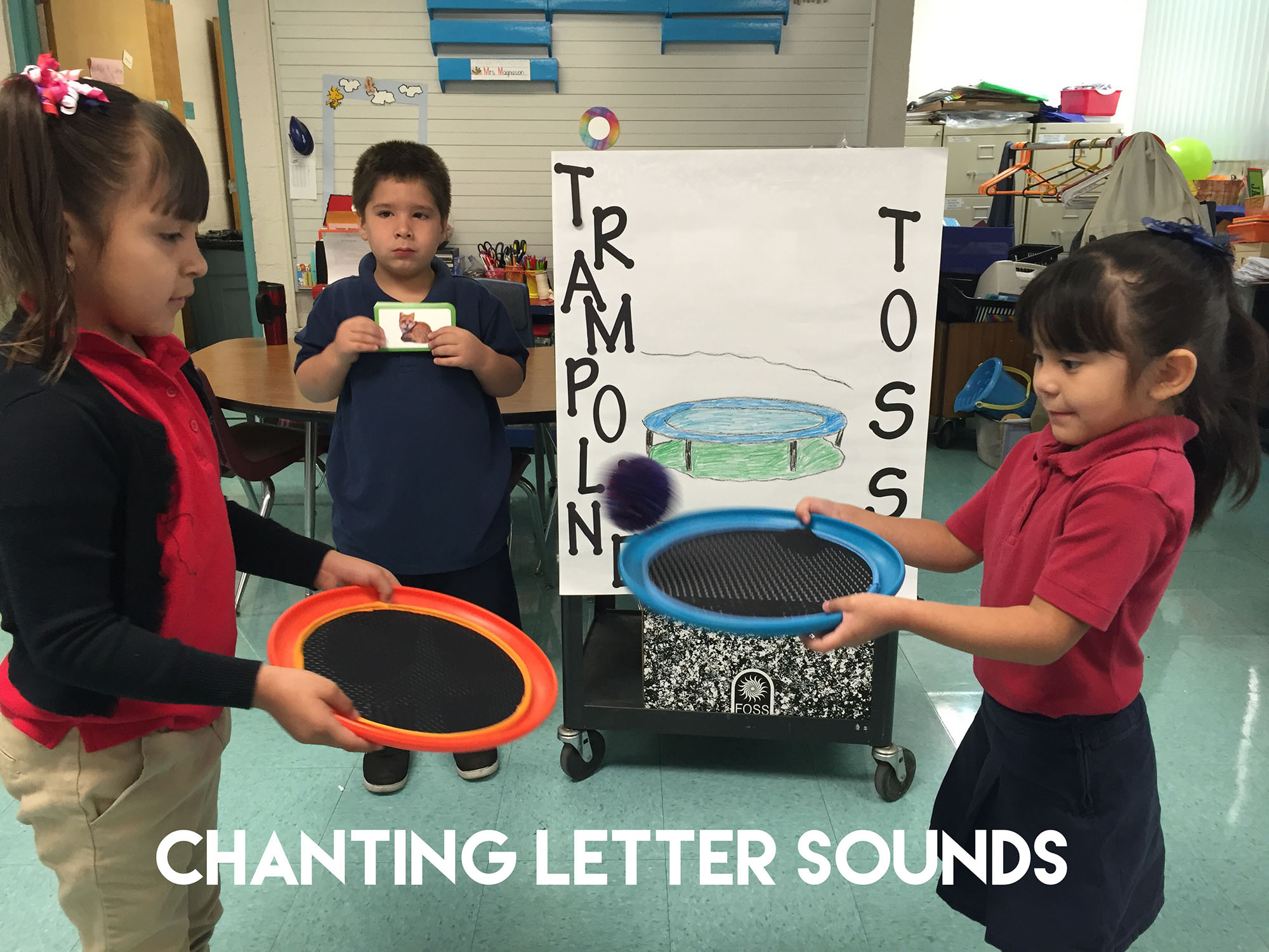 Fun Reading Games: Letter Sounds Trampoline Toss