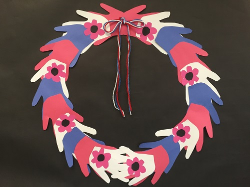 Memorial Day Handprint Wreath